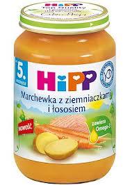 hipp marchewka z ziemniakami i łososiem